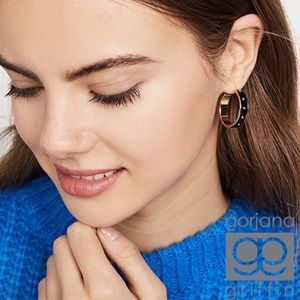 Gorjana Jax Enamel Small Hoop Earrings